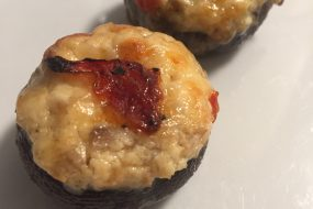 Smoked Sockeye Salmon and Cream Cheese Stuffed Cremini Mushrooms